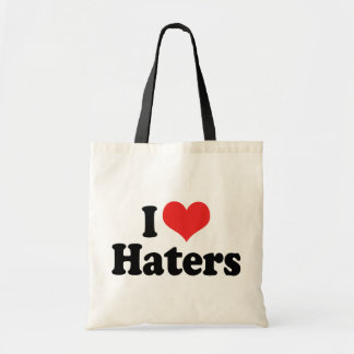 I Love Haters Tote Bags