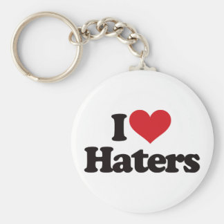 I Love Haters! Basic Round Button Keychain