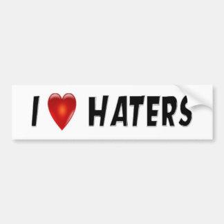 I Love Haters Car Bumper Sticker