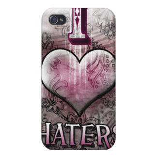 I Love Haters Heart Case Cases For iPhone 4