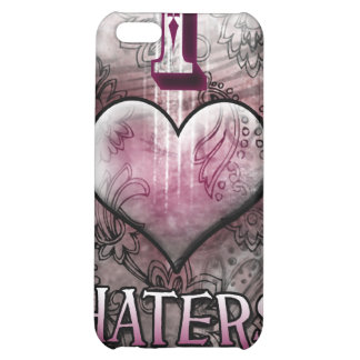 I Love Haters Heart Case iPhone 5C Cases