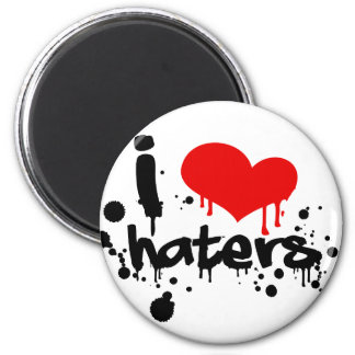 I Love Haters Refrigerator Magnets