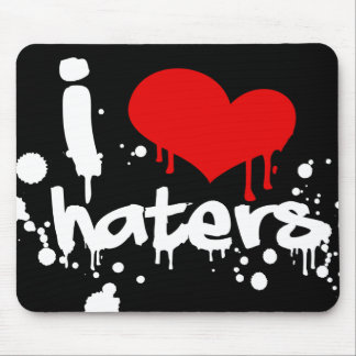 I Love Haters Mouse Pad