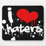 I Love Haters Mouse Pads
