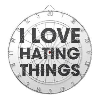I Love Hating Things Dart Board