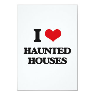 I love Haunted Houses Custom Announcement Cards