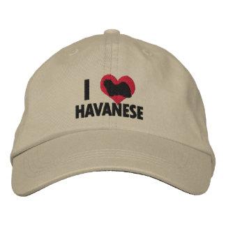 I Love Havanese Embroidered Baseball Hat