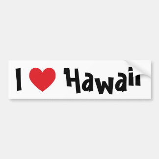 I Love Hawaii Bumper Sticker