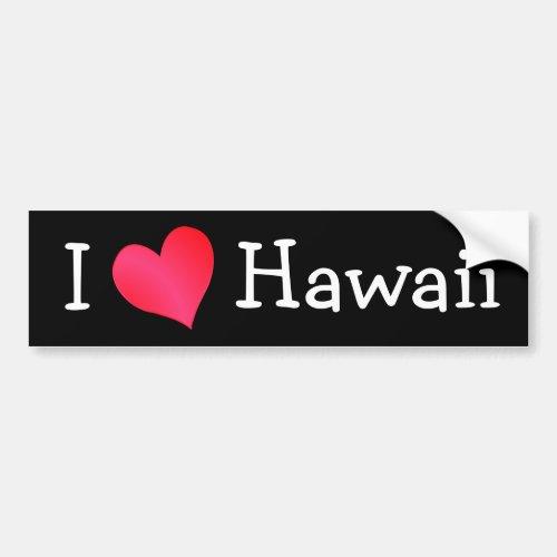 I Love Hawaii Bumper Sticker