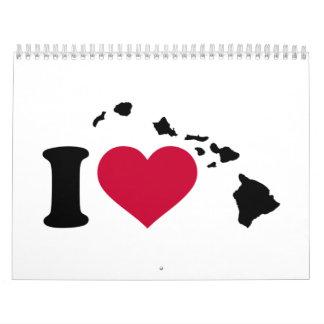 I love Hawaii Calendar