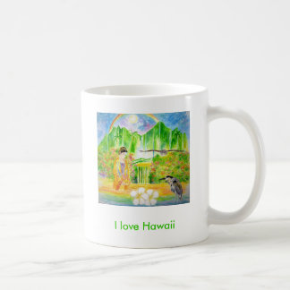 I love Hawaii Classic White Coffee Mug