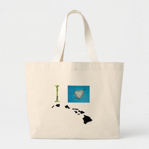 I Love Hawaii Design Canvas Bags