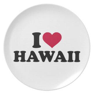 I love Hawaii Dinner Plate