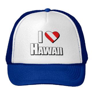 I Love Hawaii Diving Trucker Hat