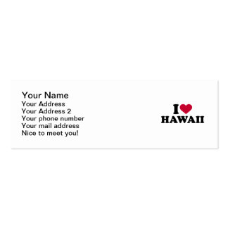 I love Hawaii Double-Sided Mini Business Cards (Pack Of 20)