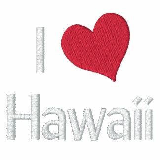 I Love Hawaii Embroidered Polo Shirt