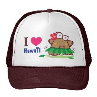I Love Hawaii eyesore hula girl monster hat