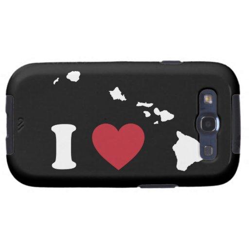 I Love Hawaii Galaxy S3 Covers