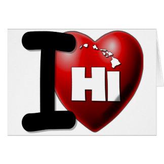 I Love Hawaii - I Heart Hawaii Card
