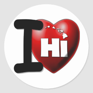 I Love Hawaii - I Heart Hawaii Classic Round Sticker