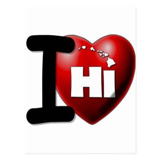 I Love Hawaii - I Heart Hawaii Postcard