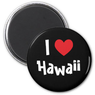 I Love Hawaii 2 Inch Round Magnet