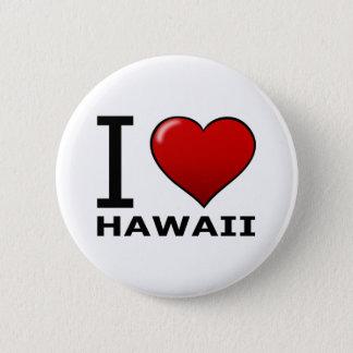 I LOVE HAWAII PINBACK BUTTON