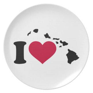 I love Hawaii Plate