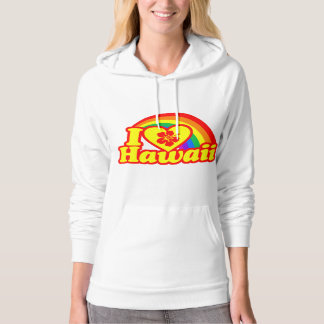 I Love Hawaii (red version) Hoodie