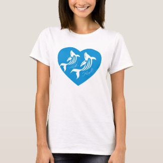 I Love Hawaii Shirt - Hawaii Islands Whale