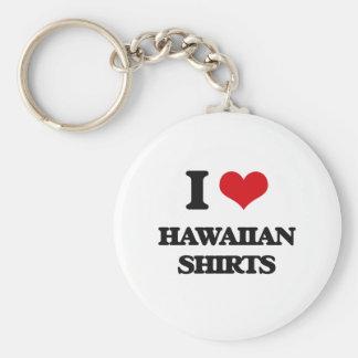 I love Hawaiian Shirts Basic Round Button Keychain