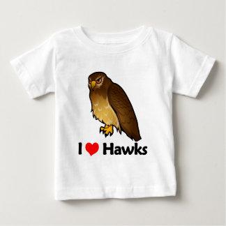 I Love Hawks Baby T-Shirt