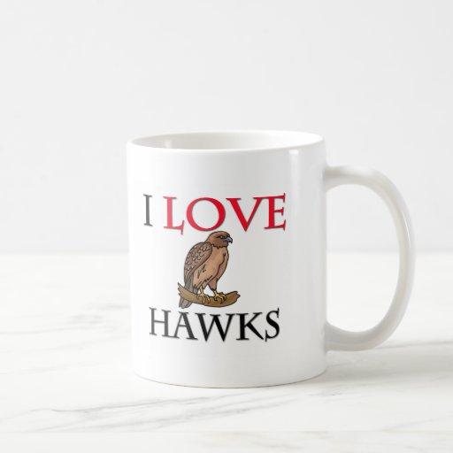 I Love Hawks Classic White Coffee Mug