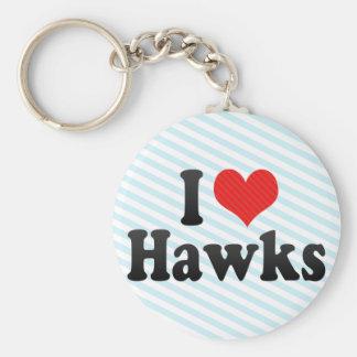 I Love Hawks Keychain