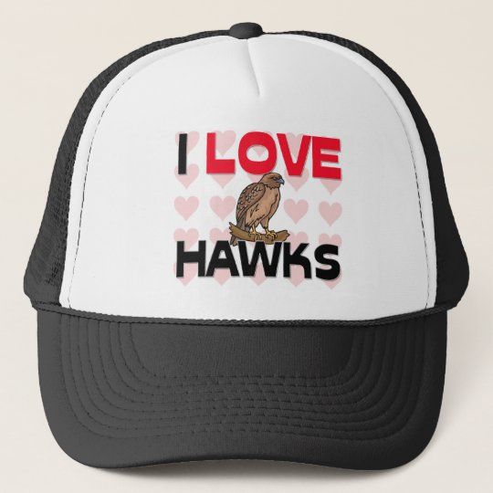 I Love Hawks Trucker Hat