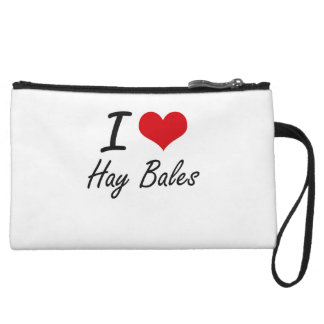 I love Hay Bales Wristlet Clutches