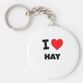 I Love Hay Keychain