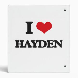 I Love Hayden Vinyl Binders