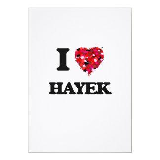 I Love Hayek 5x7 Paper Invitation Card