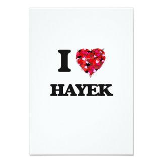 I Love Hayek 3.5x5 Paper Invitation Card
