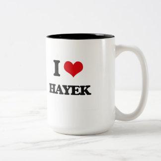 I Love Hayek Two-Tone Coffee Mug