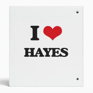 I Love Hayes Vinyl Binder