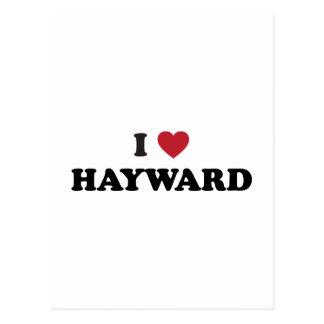 I Love Hayward California Postcard