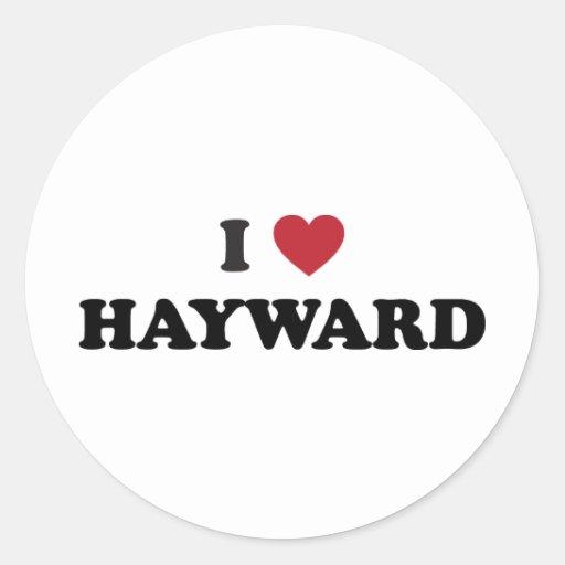 I Love Hayward California Stickers