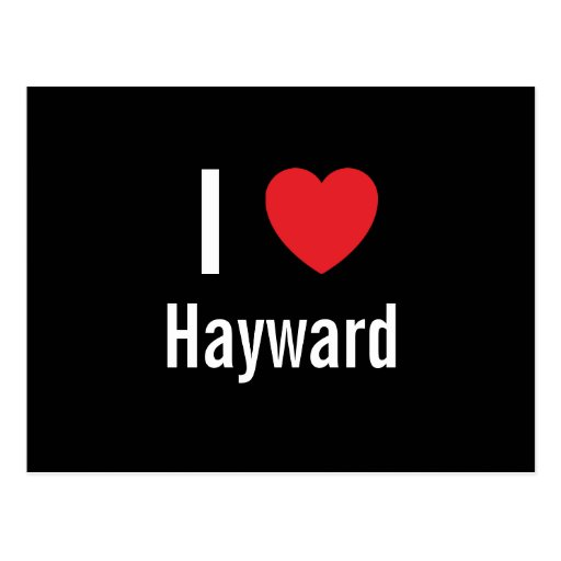 I love Hayward Post Card