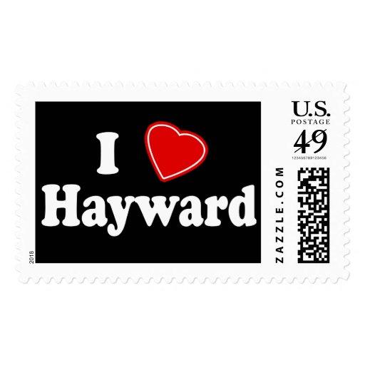 I Love Hayward Postage Stamps