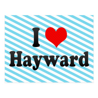 I Love Hayward, United States Postcard