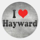 I Love Hayward, United States Round Sticker
