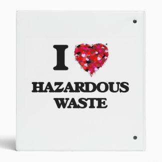 I Love Hazardous Waste Vinyl Binders