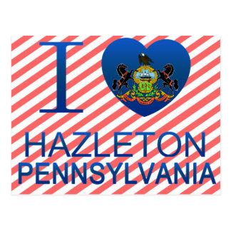 I Love Hazleton, PA Postcard